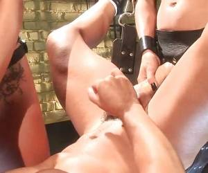 Femdom Mean Mistresses Give A Strapon Fuck