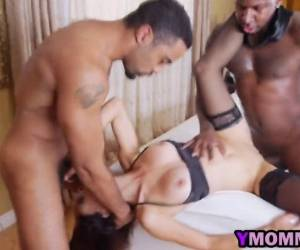 Home Alone Wife Eva Long Invites Two Black Studs For Threesome