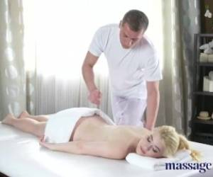Massage Rooms Pale Skinned Natural Tits Beauty Orgasms On Big Cock