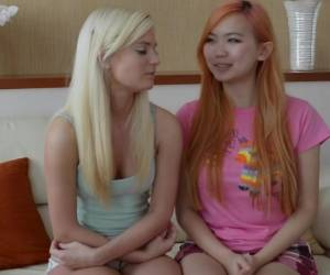 Sweetie blonde Jessica Moore fucks with two small Asian dicks № 185653 загрузить