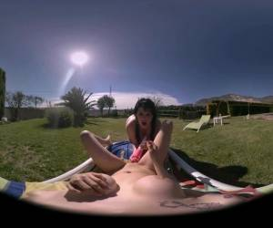 VR Porn Video. Watch How These Two Lesbian Girls Play By The Pool