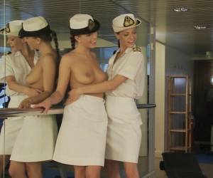 Superb Girls In Uniform Have Threesome Sex In A Gym
