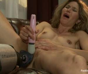 Abby Darling Enjoys Playing With A Fucking Machine Indoors