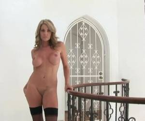 Brandi Bryant Shows Her Enhanced Boobs And Shaved Pussy