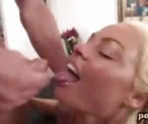 Rhylee Richards Pretty Face Splattered With Nasty Jizz After Deep Cock Fuck