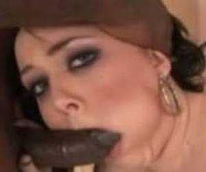 Amber Peach Gets A Chocolate Dick Rammed In Ever Fuckhole