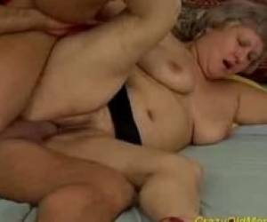 Crazy Old Mom Gets Fucked Hard And Does Blowjob Sex