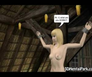 Tied Up 3d Blonde Is Forced To Suck An Old Guys Dick