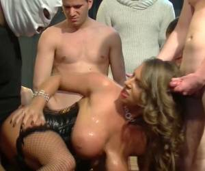 Insatiable Redhead White Beauty Pleasures German Guys In Gangbang Action