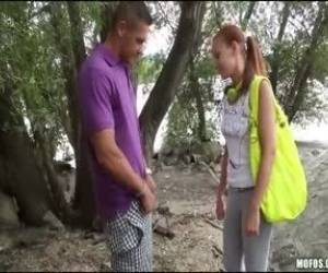 Redhead Euro Whore Minnie Manga Sucks Dick For Some Cash