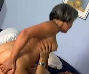 Insatiable Granny With Big Thick Booty Rides On A Dick Of A Young Man