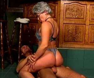 Insatiable White Granny Wants To Show Passion On A Young Man