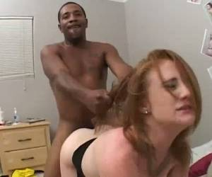 Pink Meaty Pussy Of Slutty Pale Lucy Fire Is Destroyed By Black Stud