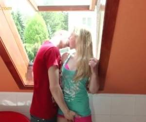 Young Blonde Girl Just 18 Years With Very Small Tits.mp4