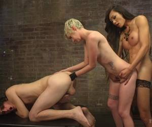 Venus Lux & Mercy West & Tony Orlando In Cramming Anatomy 101 With Venus Lux - TSSeduction