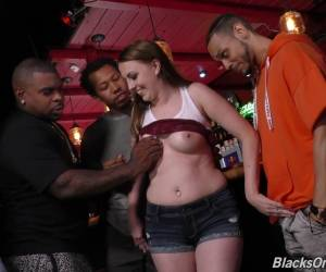 Jenna Wet Pussy Gangbanged Hardcore In Interracial Group Sex