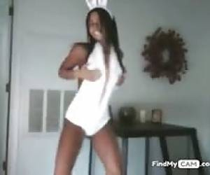 Attractive Angel In Bunny Clothes Receives Hot