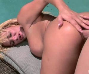 Shyla Stylez Is Outdoors, Enjoying Some Cunnilingus, While Sitting On Her Boyfriends Sports