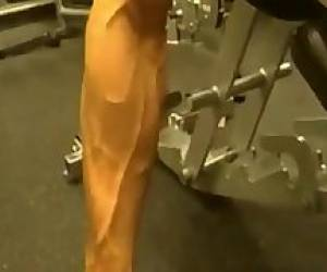 BodyBuilding -  Muscle Arm Muscle Vessels. Posing