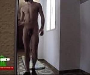 He Gets Horny Watching His Girlfriend Sweeping ADR0225