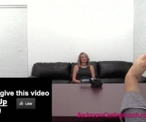 Blonde Assfuck And Creampie On Casting Couch