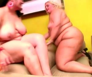 Lewd BBW Blonde Melinda Shy Hires A Male Prostitute To Have A Threesome