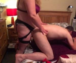 Blonde Milf Jenna Fucks Her Hubby Deep In The Ass With A Strapon (Pegging)