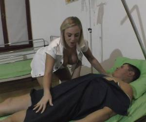 Naughty Blonde Nurse Lilli Vanilli Gets Naked For Her Patient