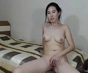 Asian Slut Naked Playing Her Tiny Shaved Pussy Show