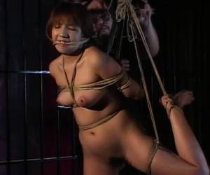 Traditional JAV Shibari Rope Binding With Naked Schoolgirl
