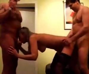 UK Swingers Enjoy A Gangbang