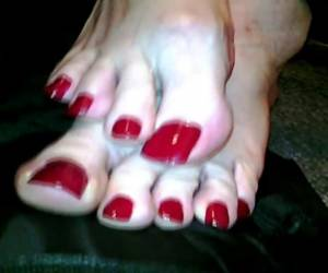 Crossdresser With Long Polished Toenails