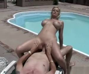 Sexy Bikini Babe Sara Jay Sucks, Fucks, And Eats Cum Out In The Sunshine