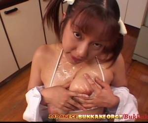 Little Japanese Schoolgirl Cum Covered Japanese Bukkake Orgy