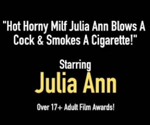 Hot Horny Milf Julia Ann Blows A Cock & Smokes A Cigarette!
