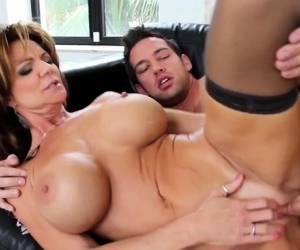 Brunette Milf Titty Fuck And Cum On Tits