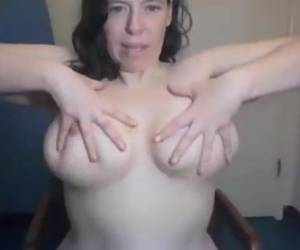 Ugly Brunette With Big Tits And Hairy Pussy And Armpits Ties Self Up With Rope
