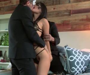 Two Masked Buddies Fuck The Shit Out Of Both Holes Of Asa Akira
