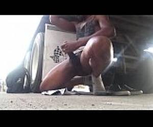 Outdoor Stroke Session And Cum All Over My Vans Feat. Rockthesox