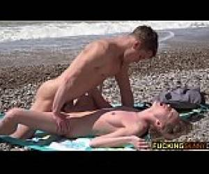 Skinny Teen Fucked Tender On The Beach