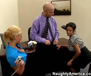 Alexis Silver & Phoenix Marie & KJ In Naughty Office