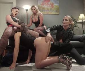 Sex-hungry Lesbian Phoenix Marie And Her Assistants Fuck Newbie