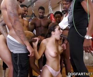 Brunette Valentina Nappi's Interracial Work Out