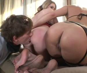 Sexy Darryl Hanah And Her Bestie Take Turns Facesitting This Old Fart
