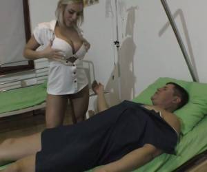 Blond Nurse In Sexy Short Uniform Lilli Vanilli Gives A Rimjob And Gets Fucked
