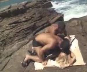 Busty Blonde Tourist DP Rape By 2 Natives