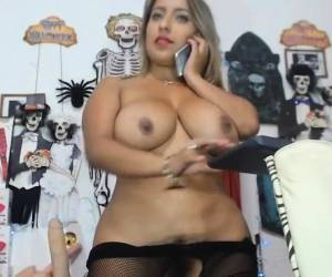 Curvy Latina With Big Tits POV Hairy Bush