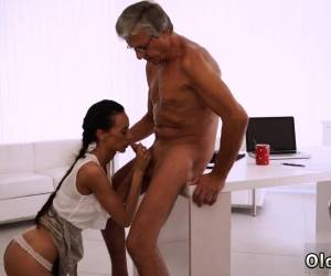 Filthy Teen His Grey Hair Drives Liliane Insatiable - Her