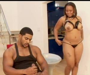 Chubby Ebony Pursuajon Anal Sex With BBC