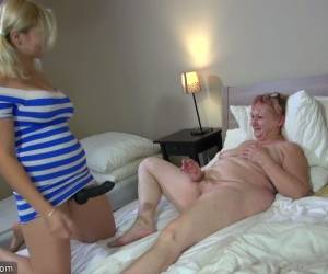 Old Chubby Lesbian Maria Is Fucked By Horny Step-niece Wearing Strapon